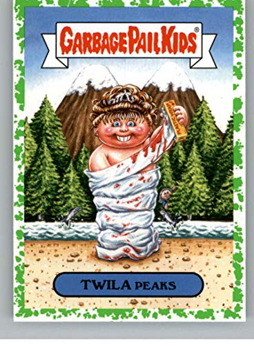 2019 Topps Garbage Pail Kids We Hate the '90s TV Sticker A-Names Puke Non-Sport #1 TWILA PEAKS Collectible Trading Card Sticker (Twin Peaks)