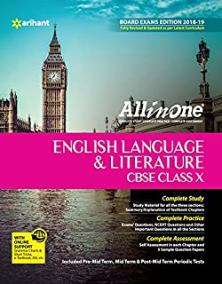 english literature evergreen guid cbse board with extra question