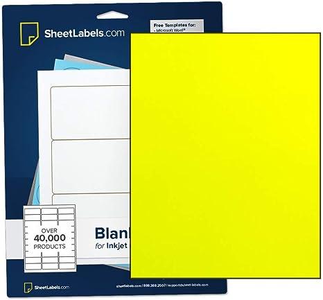 Amazon.com: Papel adhesivo fluorescente amarillo, etiquetas ...