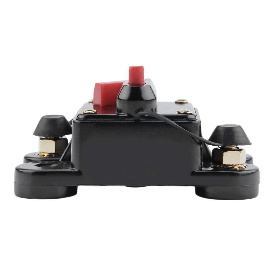 Estilo: 60A Funnyrunstore 50A 60A 80A 100A 125A 150A 200A 250A opcional Fusible de disyuntor en l/ínea de audio del coche para 12V protecci/ón SKCB-01-100A