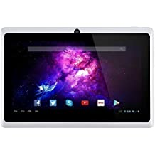 Alldaymall 7'' Tablet Android 4.4 Quad Core HD 1024x600, Dual Camera Bluetooth Wi-Fi, 8GB 3D Game Supported - White(Third Generation) …