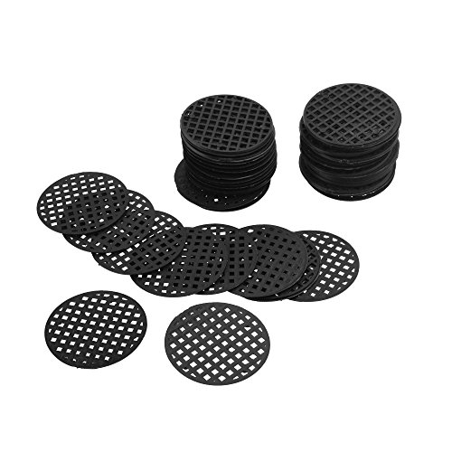 CM COSMOS 60Pcs Flower Pot Hole Mesh Pad Bottom Grid Mat Drainage Netting for Bonsai, 4.5cm -