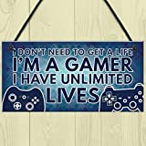 Elevin(TM)  Gamer I'm A Gamer Novelty Birthday Hanging Plaque Gift