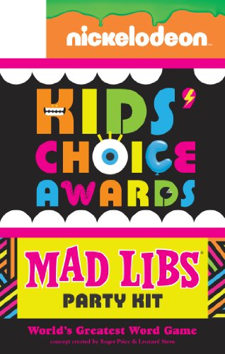 Nickelodeon Kids' Choice Awards Mad Libs Party -