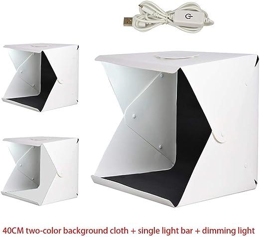 Caja de luz de fotografía Ajustable LED, Mini Estudio de ...