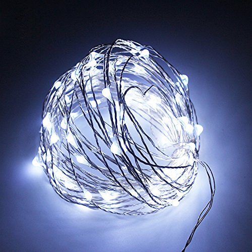 HIOTECH LED Lights with Remote Control Waterproof Christmas Decorative Lights 100 LEDs for Outdoor Decoration, Christmas, Party, Wedding, Ceremony, Celebration Decoration 33ft UL Listed (White) Remote Control Floating Lantern