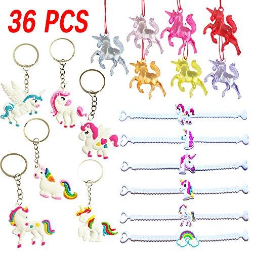 Rainbow Unicorn Party Supplies ( Bracelets, Necklaces, Keychains ),Unicorn Party Favors