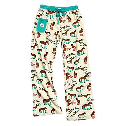 - I Need My Booty Sleep-Horse PJ Yoga Pant by LazyOne, Cream, Large