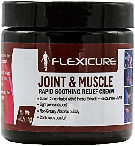 Topical Natural Pain Relief Cream for Treatment of Joint, Muscle, and Nerve Aches - Contains Glucosamine, MSM, Arnica, Boswellia
