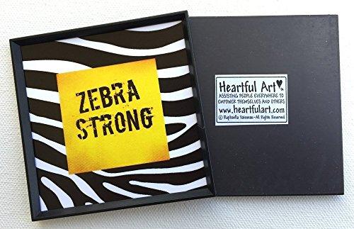 Zebra Strong 3x3 magnet - Heartful Art by Raphaella Vaisseau