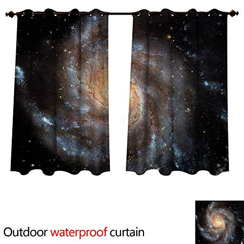 cobeDecor Galaxy Home Patio Outdoor Curtain Star Disc in Huge Space W120 x L72(305cm x 183cm)
