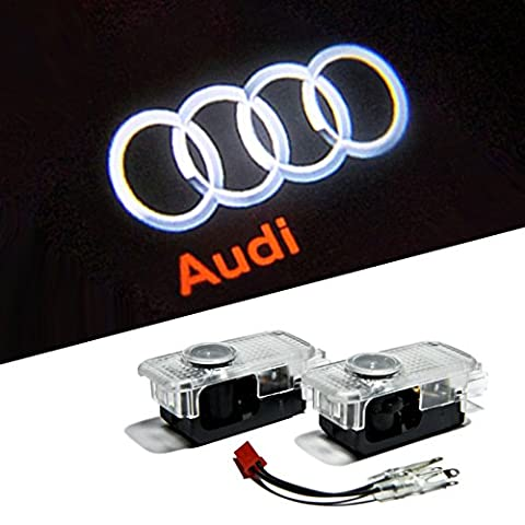 BAILONGJU Easy Installation Car Door LED Logo Projector Ghost Shadow Lights For Audi A4 A3 A6 Q7 Q5 A1 A5 TT A8 Q3 A7 R8 RS 2-pc - Audi A6 Light
