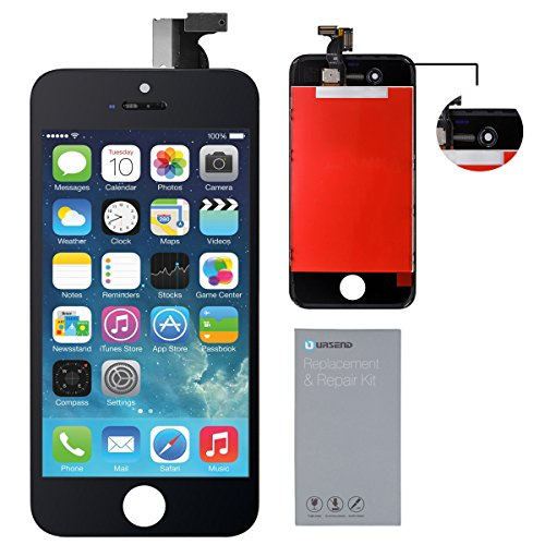 URSEND LCD Touch Screen Display Digitizer Screen Replacement Assembly with Repair Tool for iPhone 4S (black)