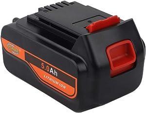 【Upgrade】 DSANKE 5.0Ah 20V MAX Replacement Battery for Black&Decker LBXR20 LBXR20-OPE LB20 LBX20 LBX4020 LB2X4020-OPE Black and Decker Lithium Battery