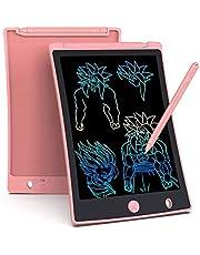 LCD schrijftablet 8.5 inch, draagbaar, Kleurrijk, ultra dun papier drawing schrijfbord geschenken voor kinderen, volwassenen, Office School en Home schrijfpads (Roze)