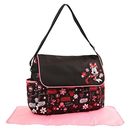 Disney Minnie Mouse Floral Graffiti Print Diaper Bag - Minnie Mouse Baby Diaper Bag