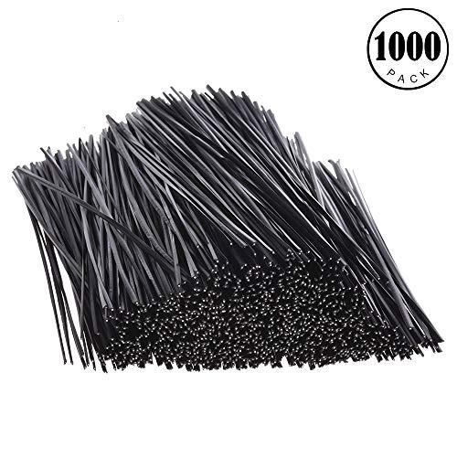 - Feeko Twist Ties,1000pcs Plastic Twisted Wire Harness tie Twisted tie Cable tie 5