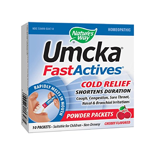 Cherry Umcka - Nature's Way Umcka Fastactives, Cherry Coldcare, 10-Count