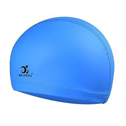New Solid Swim Cap PU Coated  swimming cap for Adult Caps for Men /& Women