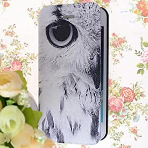 LZX Special Grains Eagles Eye Pattern PU Full Body Case with Card Slot for iPhone 5/5S