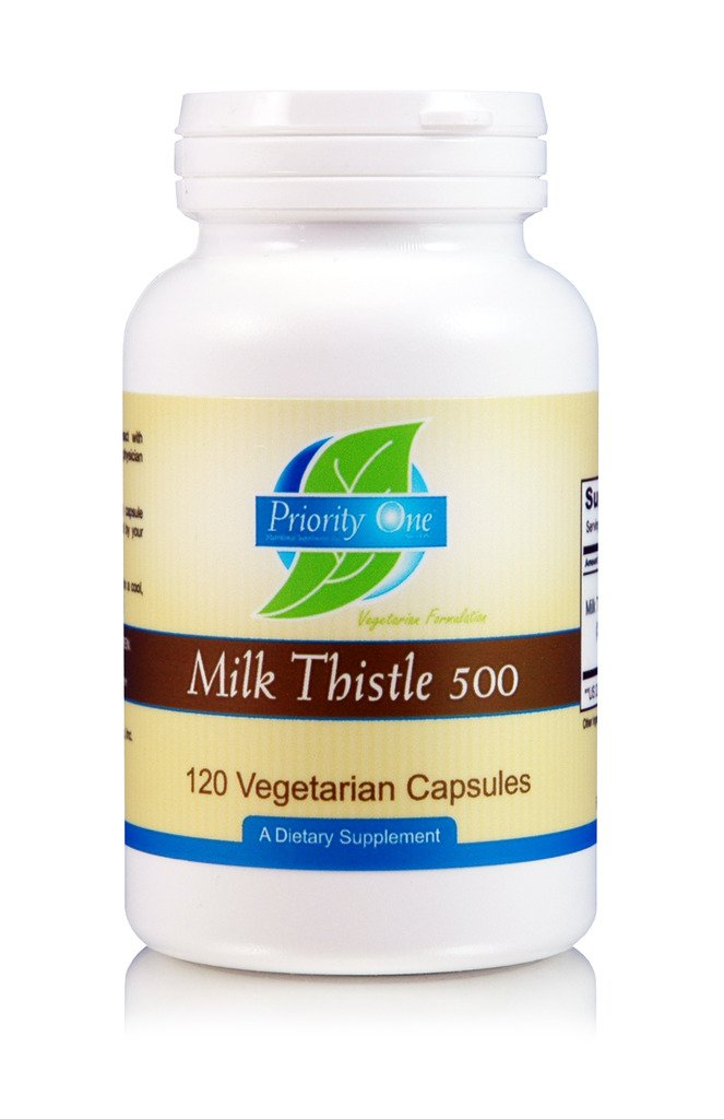Priority One Vitamins Milk Thistle/Silymarin 80% 120 Vegetarian Capsules - High Potency, clinically dosed Supporting Healthy Liver Function.*