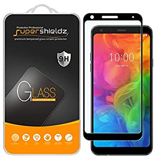 (2 Pack) Supershieldz for LG Q7 Plus Tempered Glass Screen Protector, (Full Screen Coverage) Anti Scratch, Bubble Free (Black)