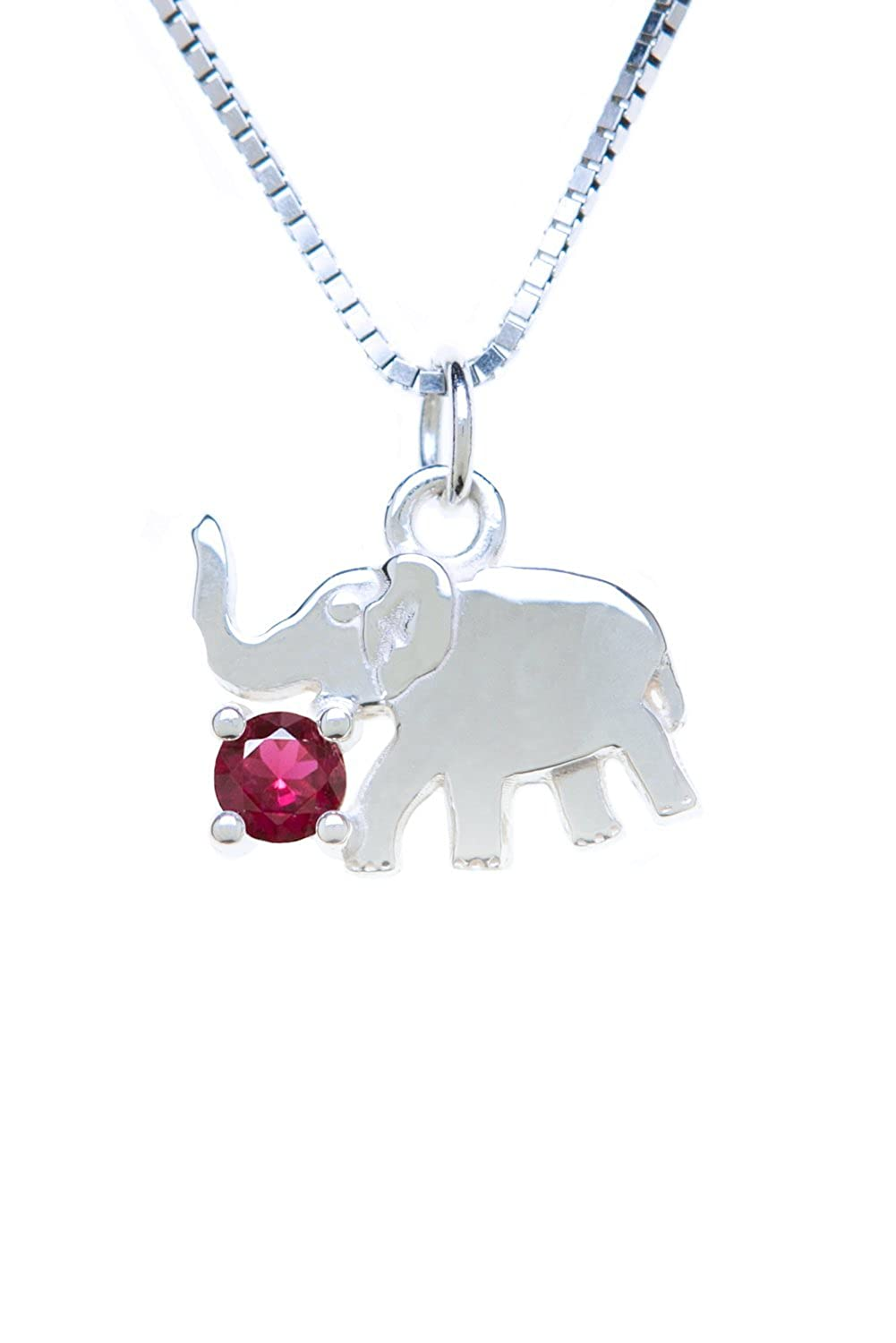Sterling Silver Pendant Charm Elephant