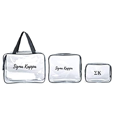 1af6c0b534 Amazon.com: Sigma Kappa Cosmetic & Travel Bags I Set of 3 Organizers I  Greek Letters & Words: Shoes