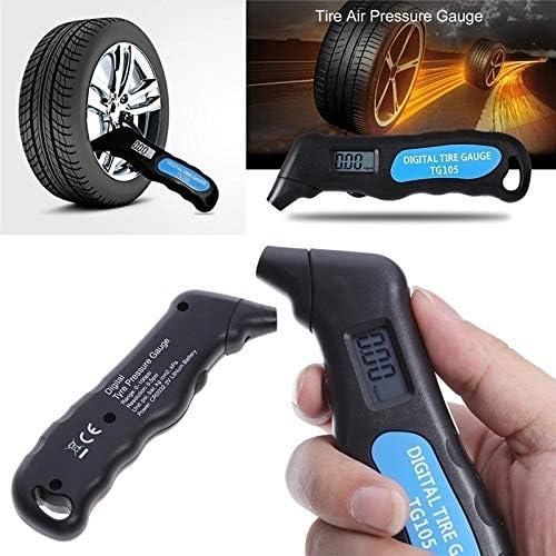 Comtervi Manómetro Digital Neumático de Presión de Neumáticos ...