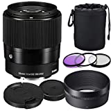 Sigma 30mm F1.4 DC DN Lens for Canon + Prime Accessory Bundle