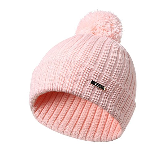 Londony Hats & Caps,Winter Trendy Stripe Crochet Warm Chunky Soft Stretch Cable Knit Beanie Skully Hat