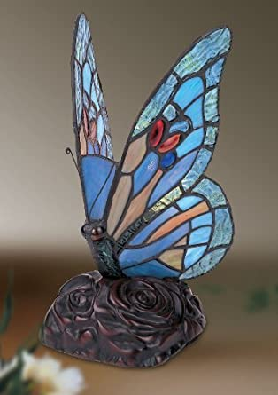 Butterfly Tiffany Table Lamp - FREE UK POSTAGE - STAINED GLASS ...
