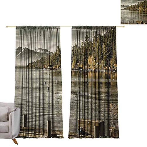 zojihouse ForestThermal Insulated Blackout Curtains Carnelian Bay Lake Tahoe -