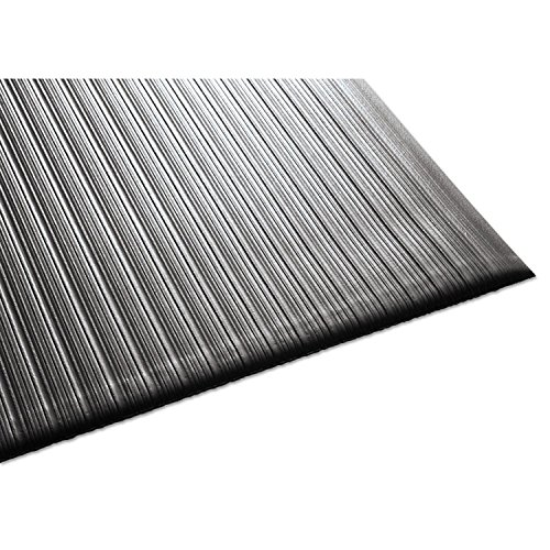 Guardian Air Step  Anti-Fatigue Floor Mat, Vinyl, 3'x5', Black, Reduces fatigue and discomfort, Can be easily cut to fit any space