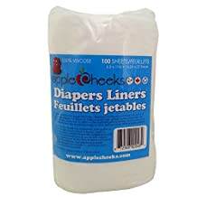 AppleCheeks Flushable Biodegradable Nappy Liners 100 Sheets
