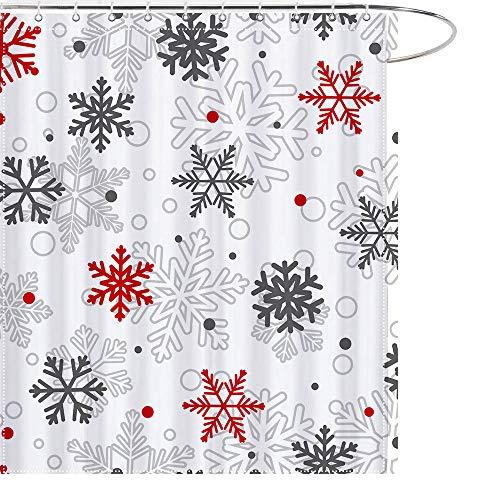 MAEZAP Christmas Bathroom Decoration Shower Curtains Hooks 12-Pack