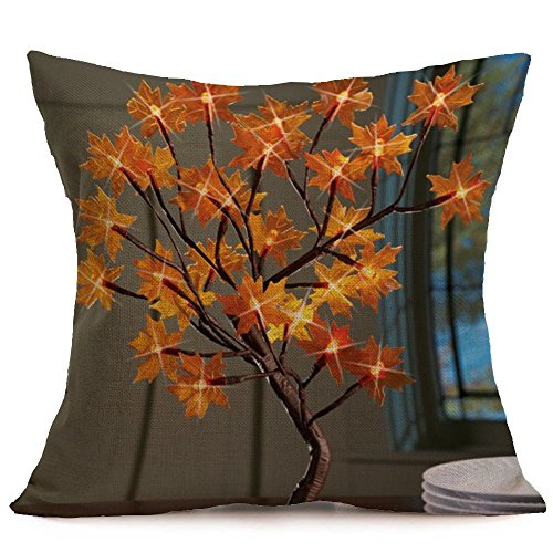 ksgiving Day Christmas Pillow Covers, Soft Linen Pillow Case Cushion Cover Home Decor (Multicular G) ()