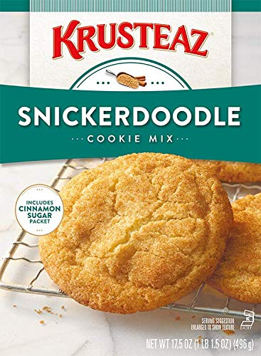 Krusteaz Snickerdoodle Cookie Mix, 17.5-Ounce Boxes Cinnamon Sugar Packet (Pack of 3) by Krusteaz