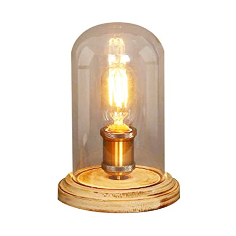 Hot Sale Retro Style Vintage Industrial Single Socket Table Bedside Desk Lamp Wooden Base Creative Edison Light Bulb Always Buy Good Desk Lamps