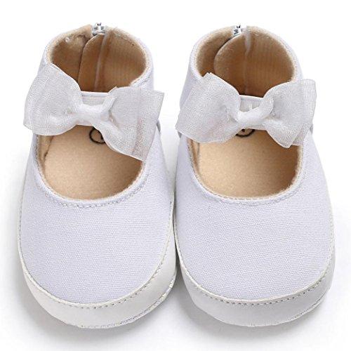 Clode® Baby Kind Kindermädchen weiche Sohlen Krippe Kleinkind neugeborene Schuhe Weiß