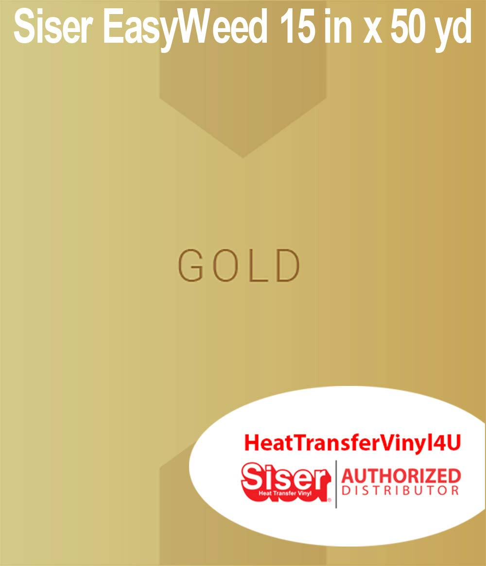 Siser Easyweed Heat Transfer Vinyl Gold 15 Inches by 50 Yards