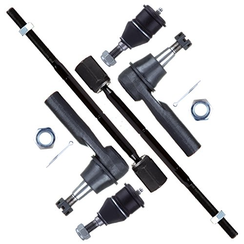 SCITOO 6pcs Suspension Kit 2 Outer 2 Inner Tie Rod Ends 2 Lower Ball Joints fit Ford Taurus Mercury Sable 1996 1997 1998 1999 2000 2001 2002 2003 2004 2005 2006 2007 ES3349 EV398 K8687