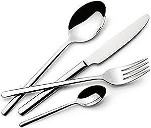 Lagostina 014436650524 Cutlery Set, Stainless Steel,Set of 24
