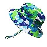 Kyпить Kids Summer Quick Dry Swim Sun Hats 50 UPF, Adjustable Foldable Packable (XL: 3-12Y, Blue Shark) на Amazon.com