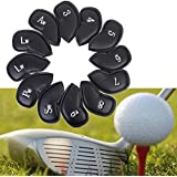 HOMEPRO 12PCS PU Leather Golf Iron Club Putter Headcovers Protective Covers
