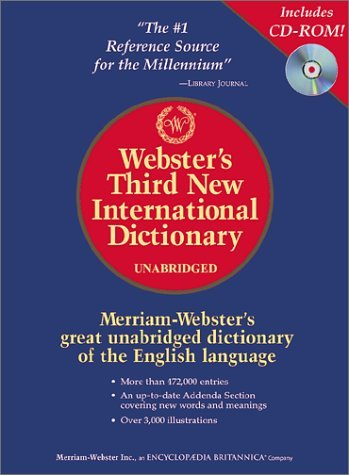 Download Webster's Third New International Dictionary, Unabridged (Book & CD-ROM) PDF