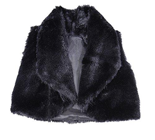Price comparison product image CALDORE USA Little Girls Faux Fur Vest Black Size 5