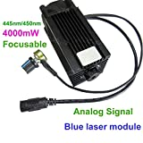 Analog Signal 445nm 450nm 4000mw 4W Blue Laser Dot Module 12V DIY CNC Engraving