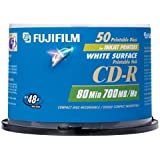 Fujifilm 50PK CD-R 700MB 48X WHT INK-JET PRINT SPINDLE (25307211) (Discontinued by Manufacturer)