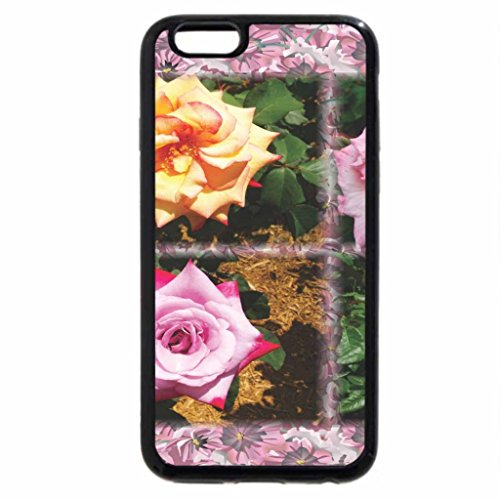 iPhone 6S / iPhone 6 Case (Black) Flowers With Floral Border